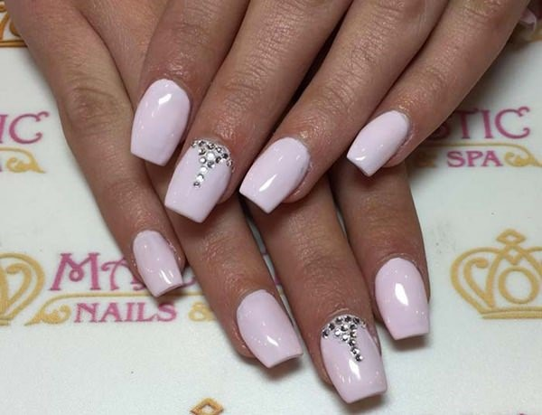 Acrylic Nail Tips - how to apply acrylic overlay on natural nails tips